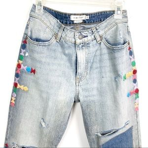 Miss Me Jeans - MM Vintage Distressed Boyfriend Embroidered Jeans